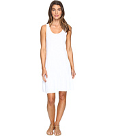 Mod-o-doc - Slub Jersey Tank Dress with Shirred Asymmetrical Seam