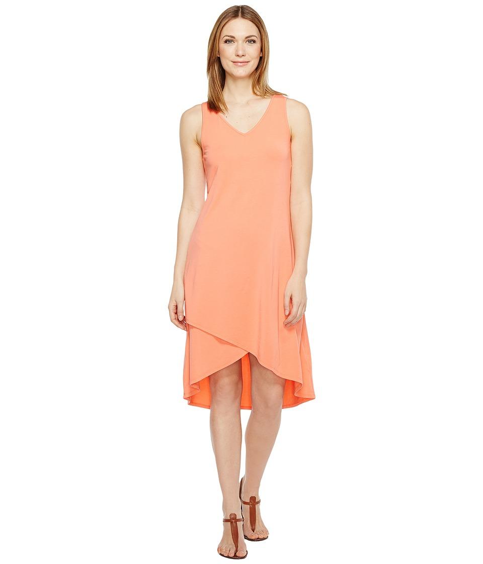 Mod-o-doc Cotton Modal Spandex Jersey Crossover Hem Dress (Tigerlily) Women