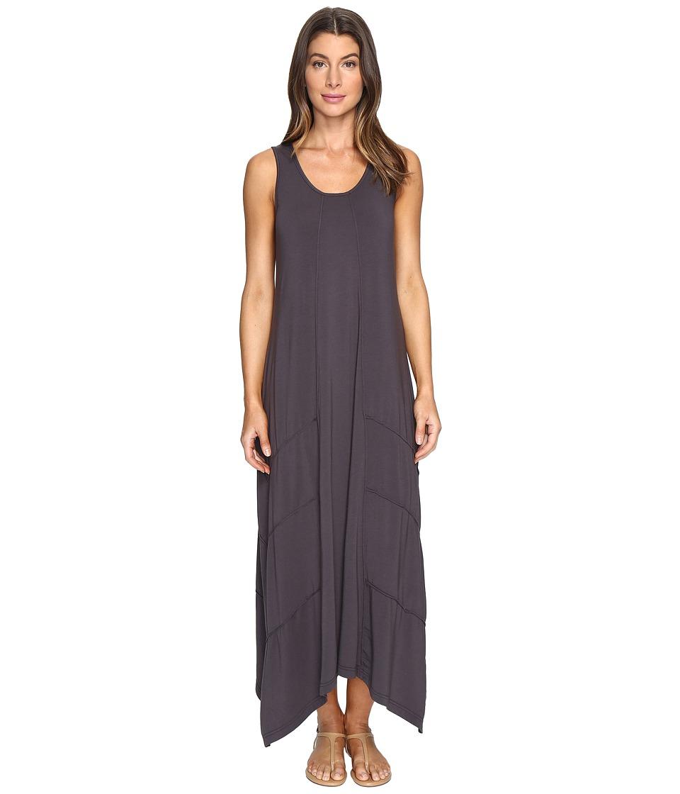 Mod-o-doc Cotton Modal Spandex Jersey Seamed Maxi Tank Dress (Dark Nickel) Women