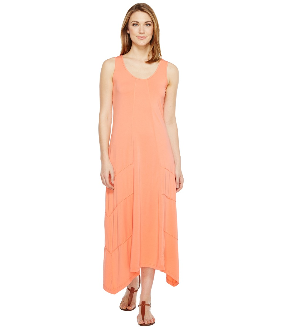 Mod-o-doc Cotton Modal Spandex Jersey Seamed Maxi Tank Dress (Tigerlily) Women
