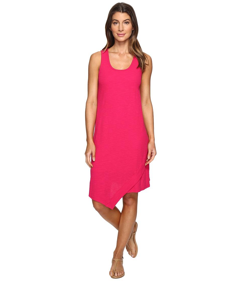 Mod-o-doc Textured Slub Stripe Tank Dress (Berry Red) Women