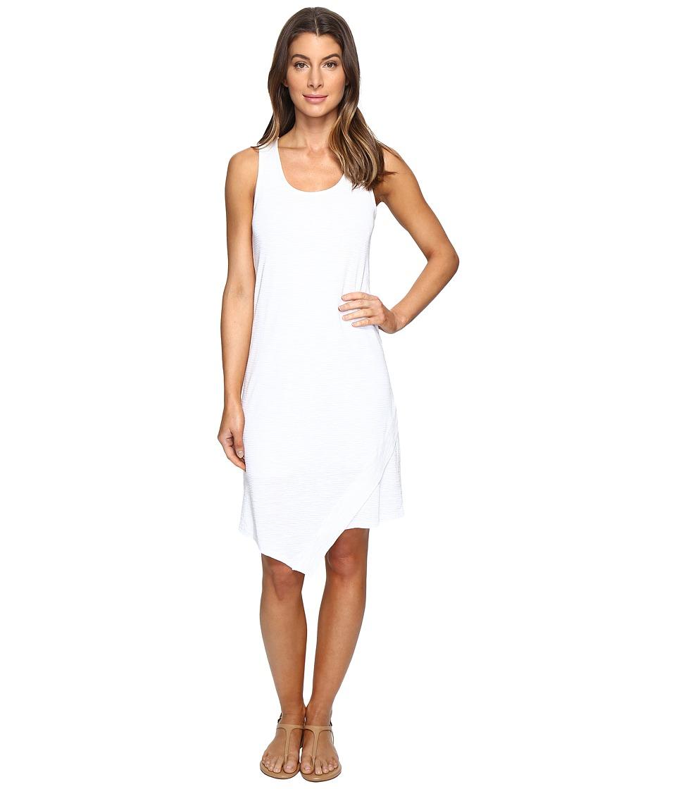 Mod-o-doc Textured Slub Stripe Tank Dress (White) Women