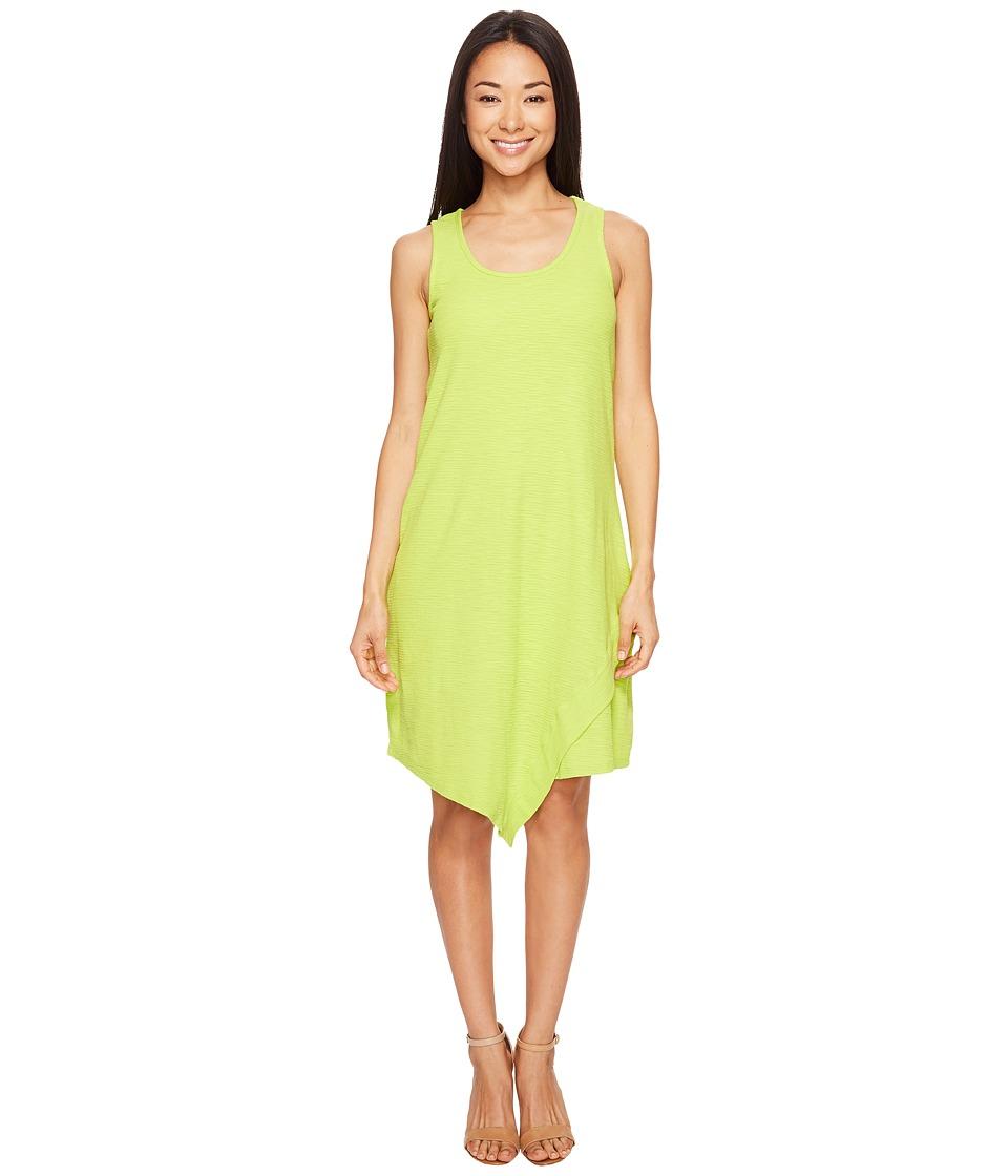 Mod-o-doc Textured Slub Stripe Tank Dress (Lime) Women