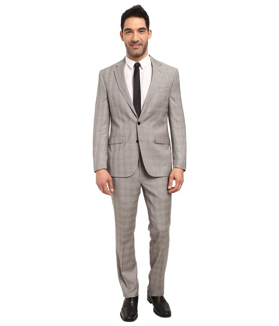 Kenneth Cole Reaction - Chelsea Suit (Black/White/Red Pla...