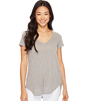 Mod-o-doc - Linen Blend Sweater Short Sleeve V-Neck Tee