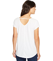 Mod-o-doc - Heather Jersey Raw Edge Keyhole Back Tee