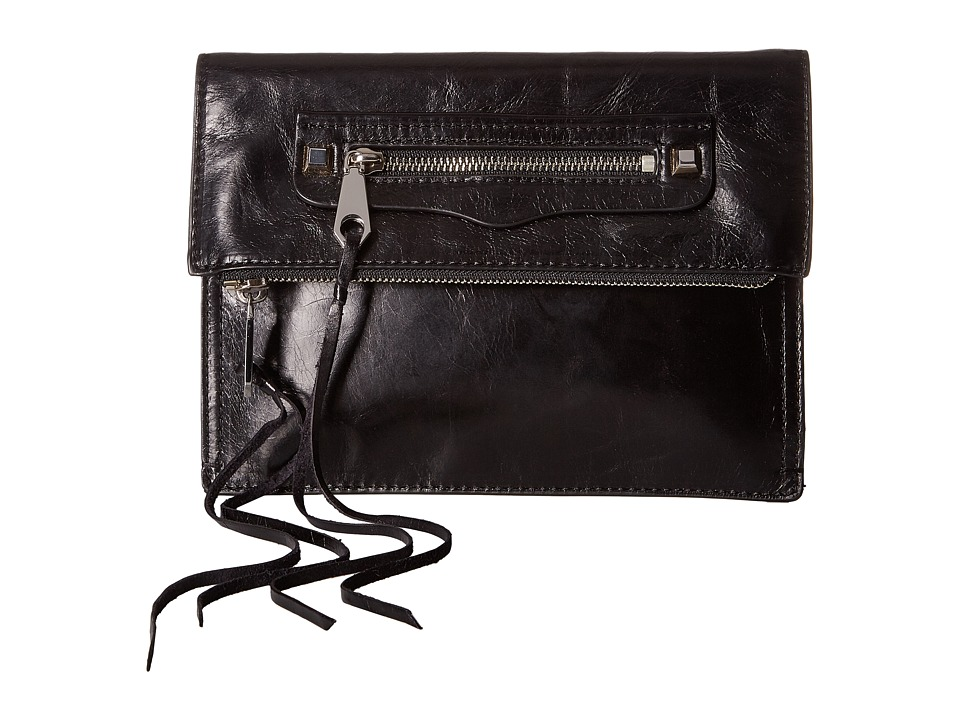 Rebecca Minkoff Small Regan Clutch (Black 2) Clutch Handbags