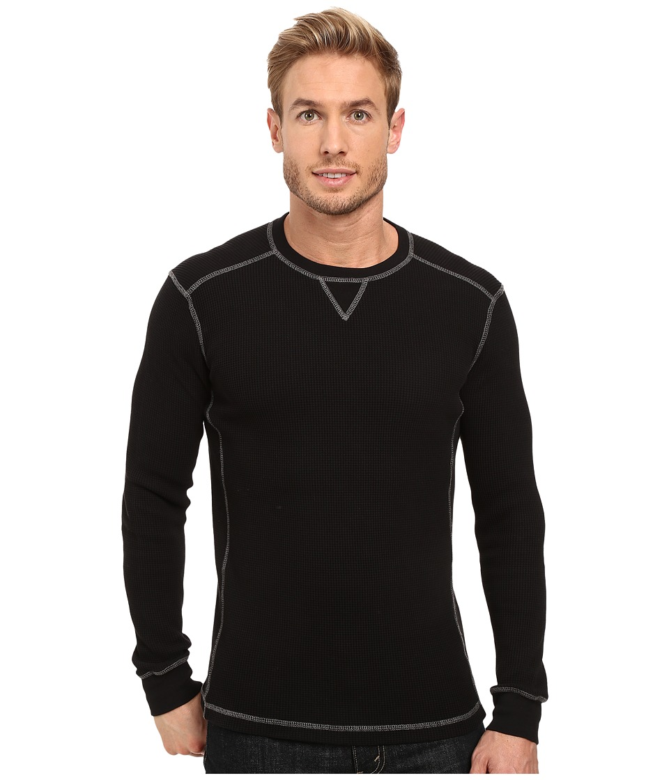 Mod-o-doc - Seacliff Long Sleeve Crew Thermal Crew (Black) Mens Long Sleeve Pullover