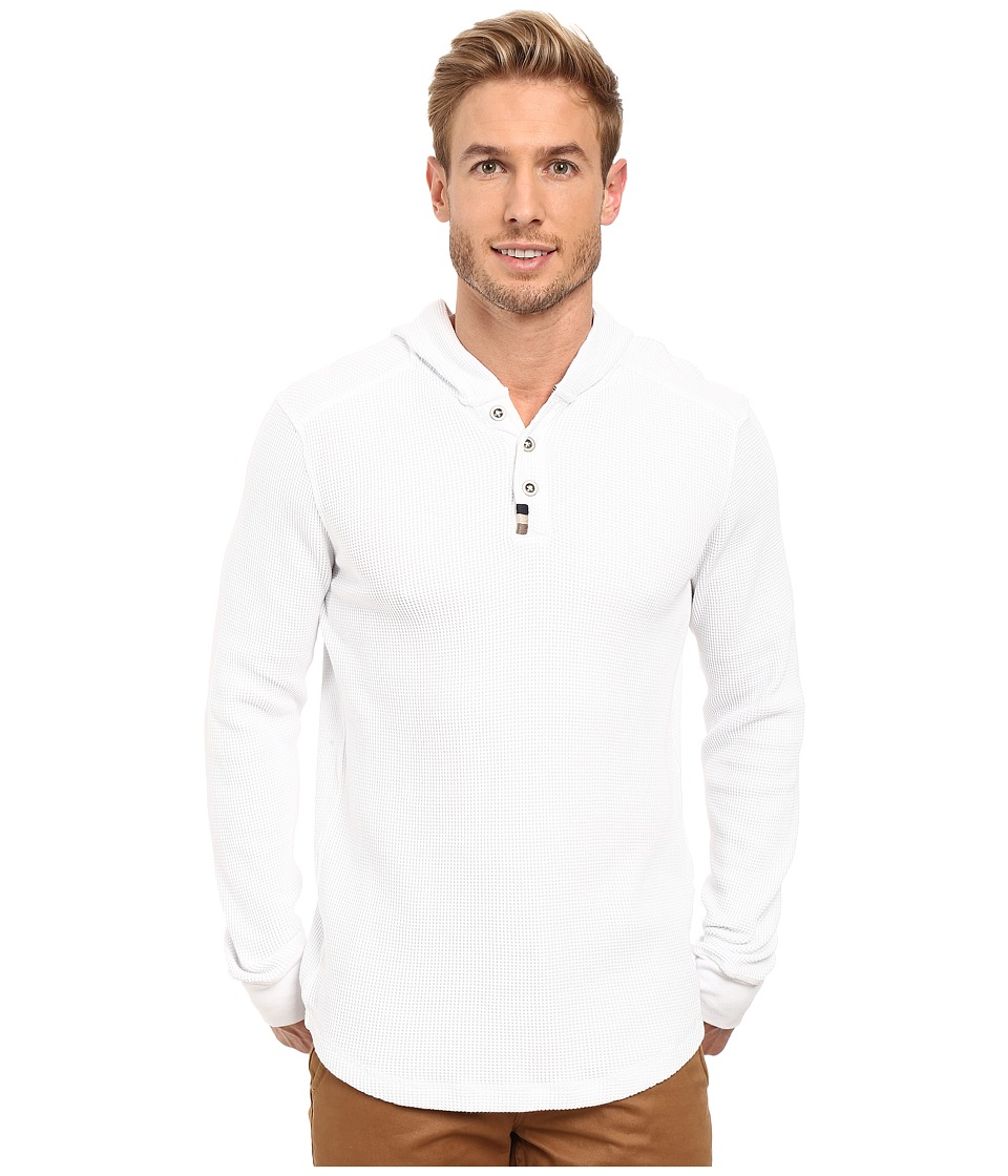 Mod-o-doc - Santa Cruz Long Sleeve Henley Hoodie (White) Men