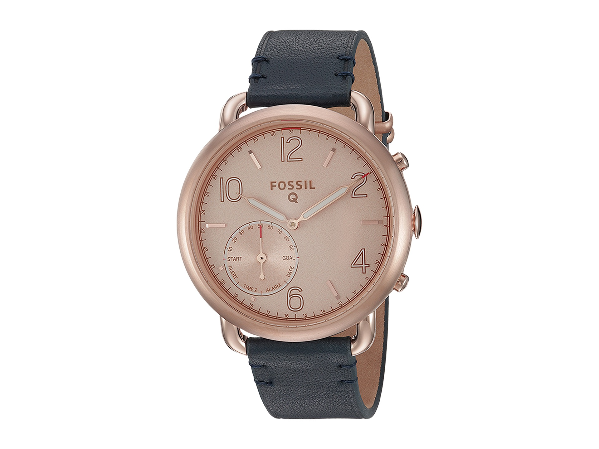 fossil q q tailor hybrid smartwatch ftw1128 rose gold sienna leather free. Black Bedroom Furniture Sets. Home Design Ideas