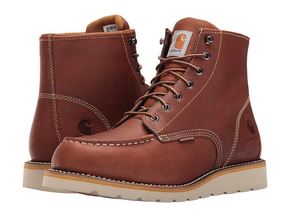 Carhartt - 6-Inch Tan Waterproof Wedge Boot