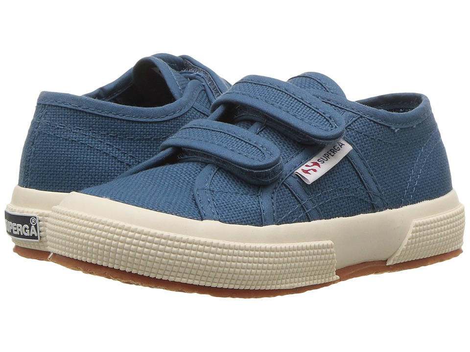 Superga Kids 2750 JVEL CLASSIC (Infant/Toddler/Little Kid/Big Kid) (Smoky Blue Canvas) Kid's Shoes