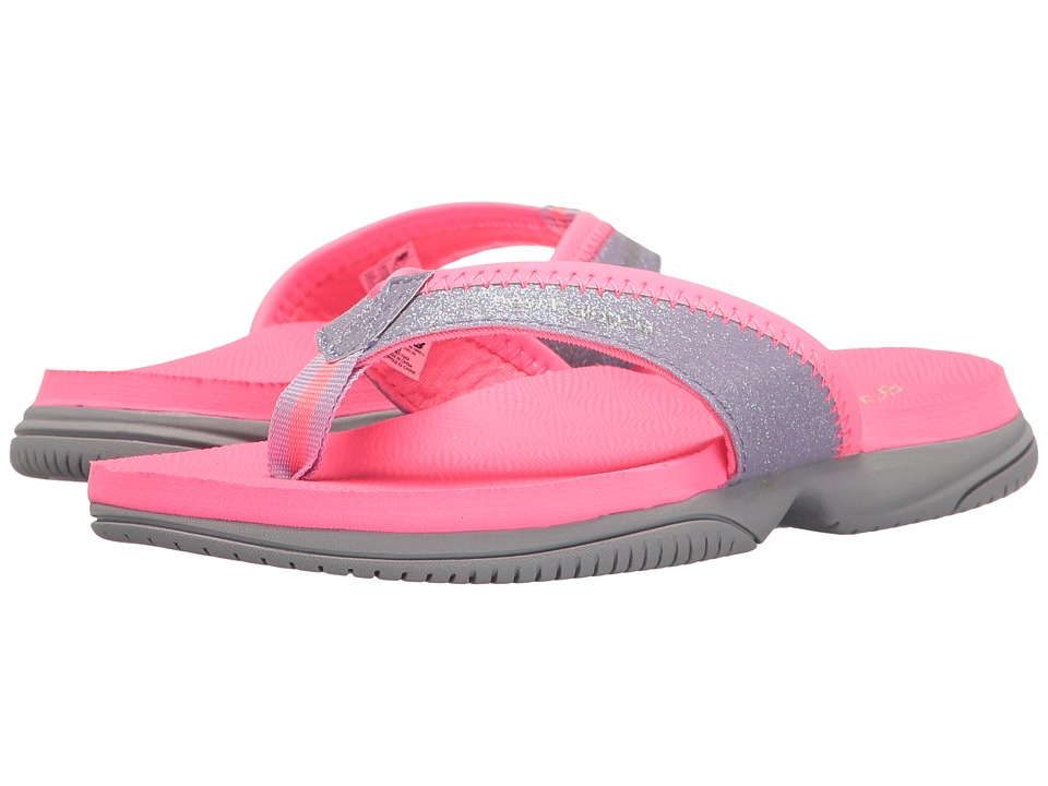 New Balance Kids JoJo Thong (Little Kid/Big Kid) (Pink/Grey) Girls Shoes