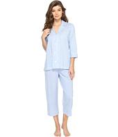 LAUREN Ralph Lauren - Classic Knit 3/4 Sleeve Capri Pajama