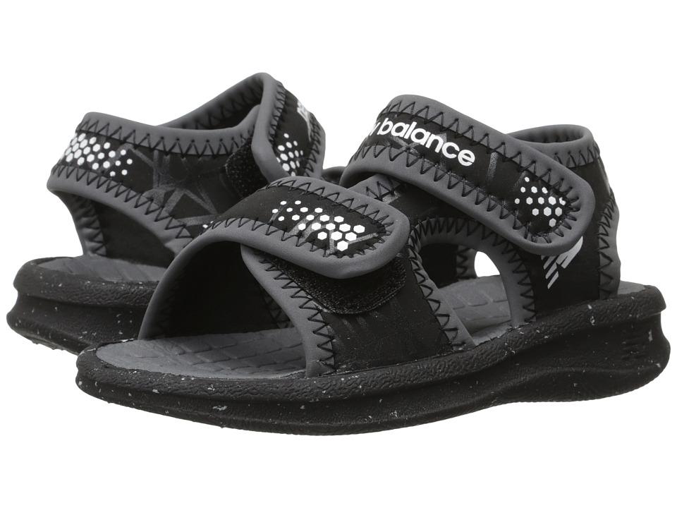 New Balance Kids Sport Sandal (Toddler/Little Kid/Big Kid) (Black/White) Boys Shoes