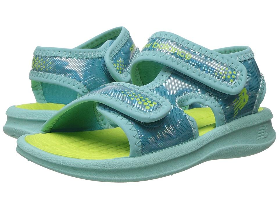 New Balance Kids Sport Sandal (Toddler/Little Kid/Big Kid) (Blue/Lime) Girls Shoes