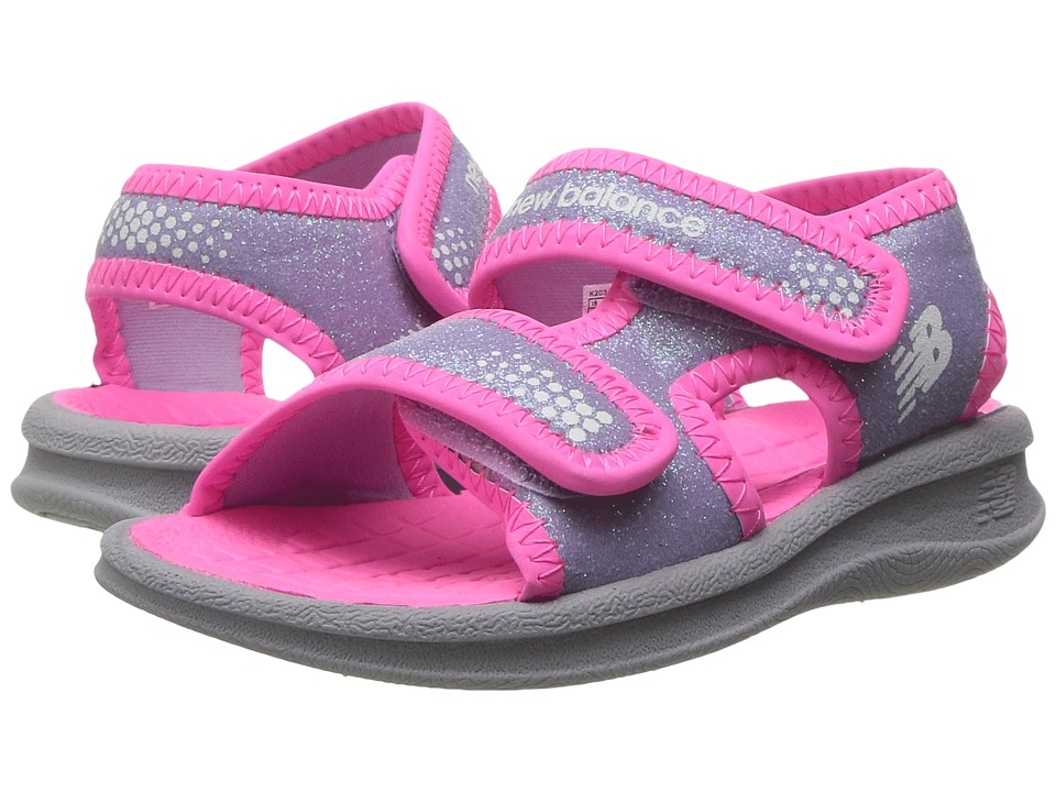 New Balance Kids Sport Sandal (Toddler/Little Kid/Big Kid) (Grey/Pink) Girls Shoes