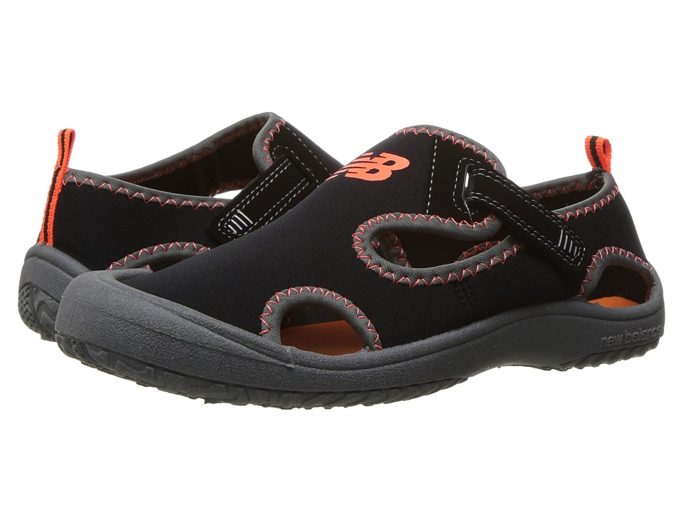 New Balance Kids Cruiser Sandal (Toddler/Little Kid) (Black/Orange) Boys Shoes
