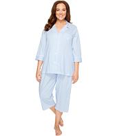 LAUREN Ralph Lauren - Plus Size Classic Knit 3/4 Sleeve Capri Pajama