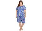 LAUREN Ralph Lauren Plus Size Short Sleeve Bermuda PJ Set