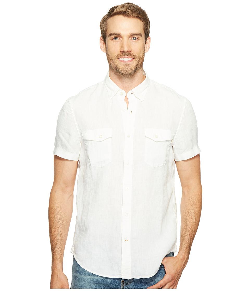 Timberland - Short Sleeve Mill River Linen Cargo Shirt (White) Men's Clothing