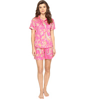 LAUREN Ralph Lauren - Sateen Short Sleeve Boxer Set