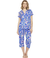 LAUREN Ralph Lauren - Short Sleeve Notch Collar Capri PJ