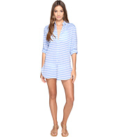 Tommy Bahama - Breton Stripe Boyfriend Shirt Cover-Up