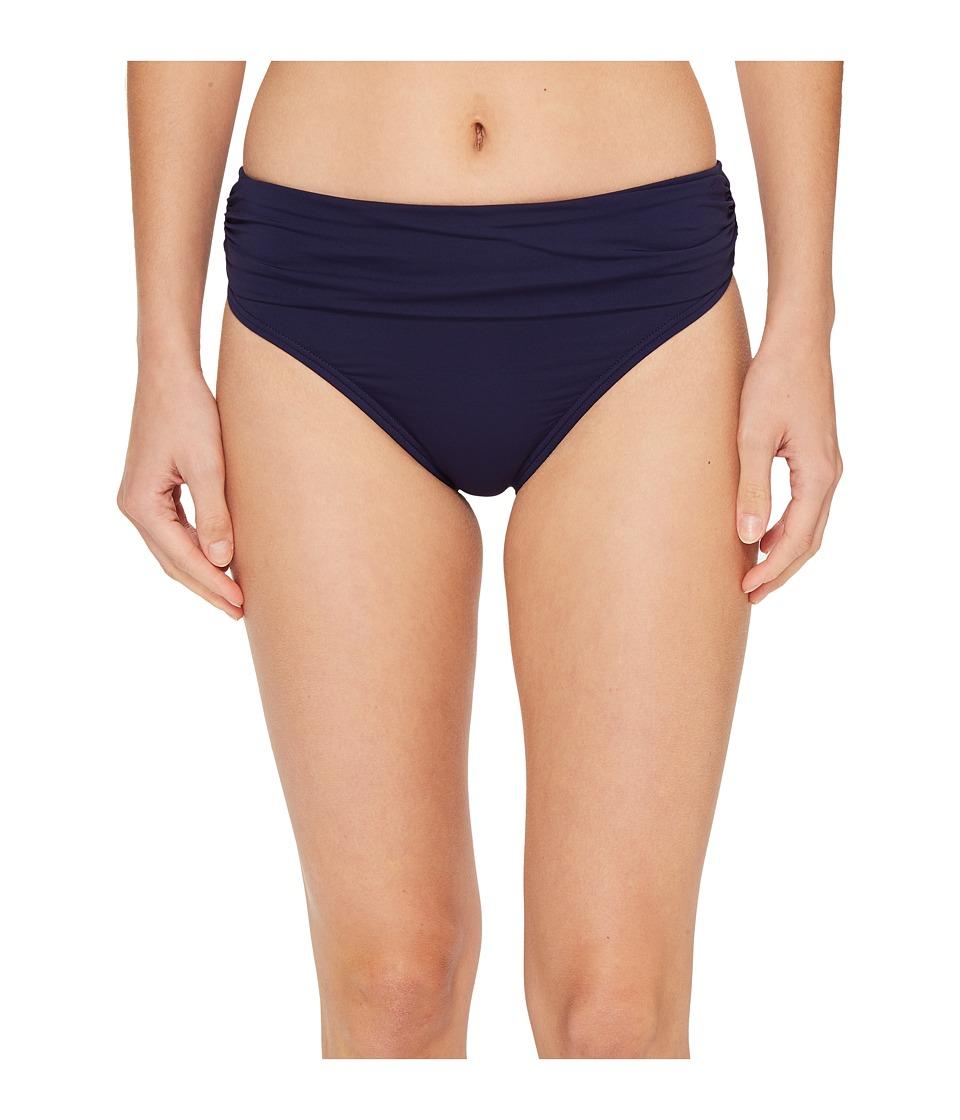 Tommy Bahama Pearl High-Waist Hipster Bikini Bottom (Mare Navy)