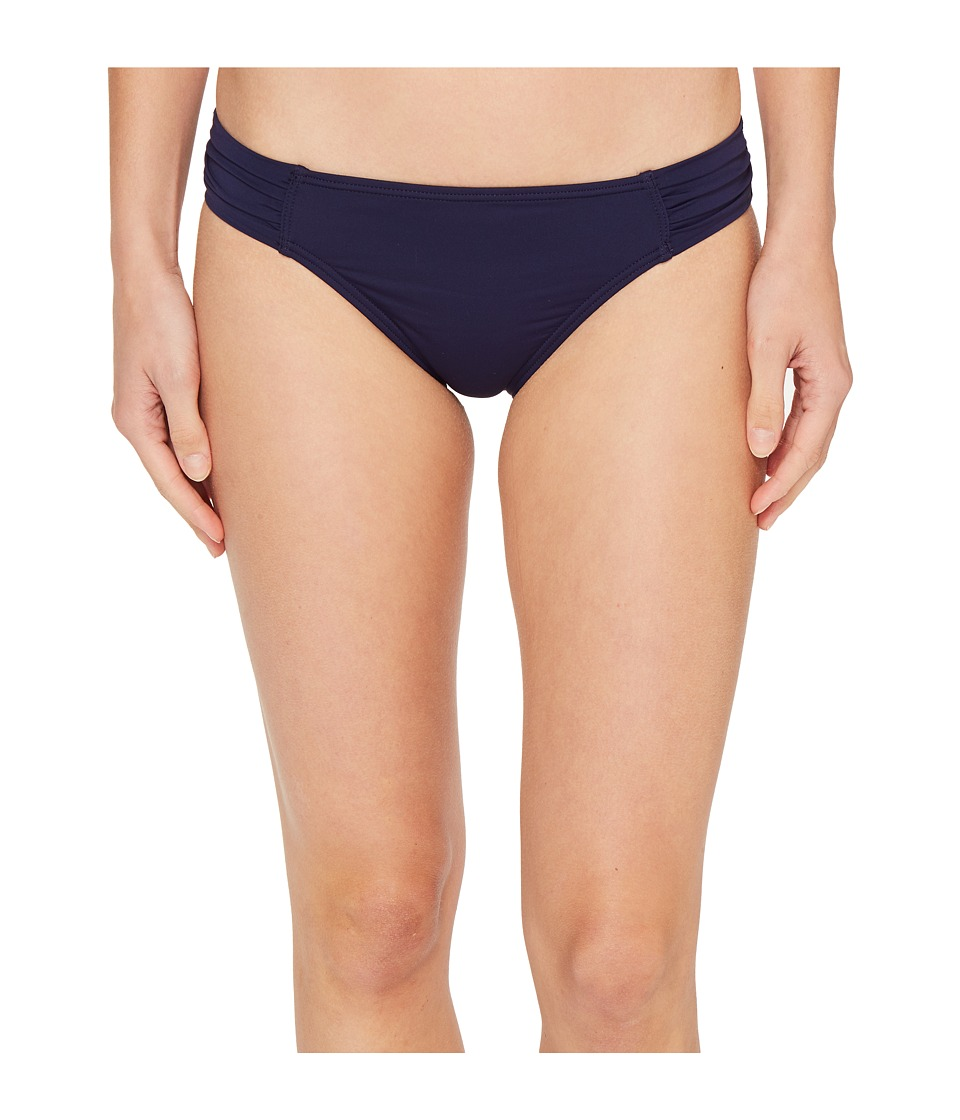 Tommy Bahama Pearl Side-Shirred Hipster Bikini Bottom (Mare Navy)