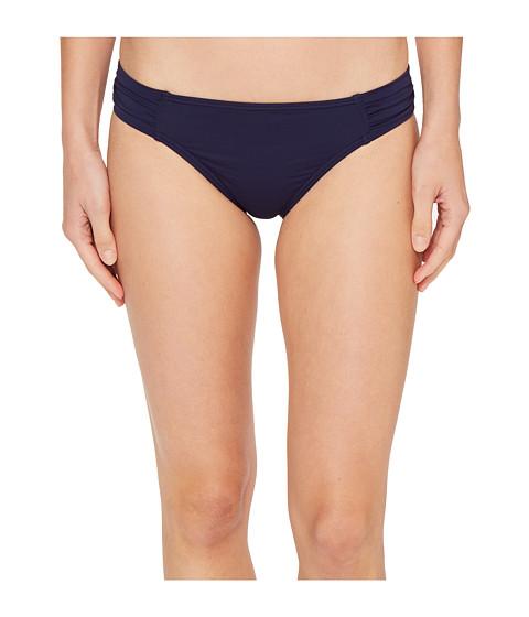 Tommy Bahama Pearl Side-Shirred Hipster Bikini Bottom - Mare Navy