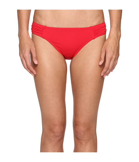 Tommy Bahama Pearl Side-Shirred Hipster Bikini Bottom - Poppy Red