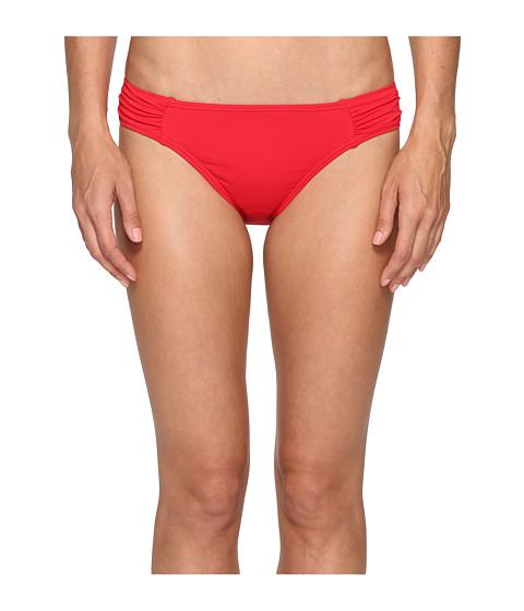 Tommy Bahama Pearl Side-Shirred Hipster Bikini Bottom - Poppy Red