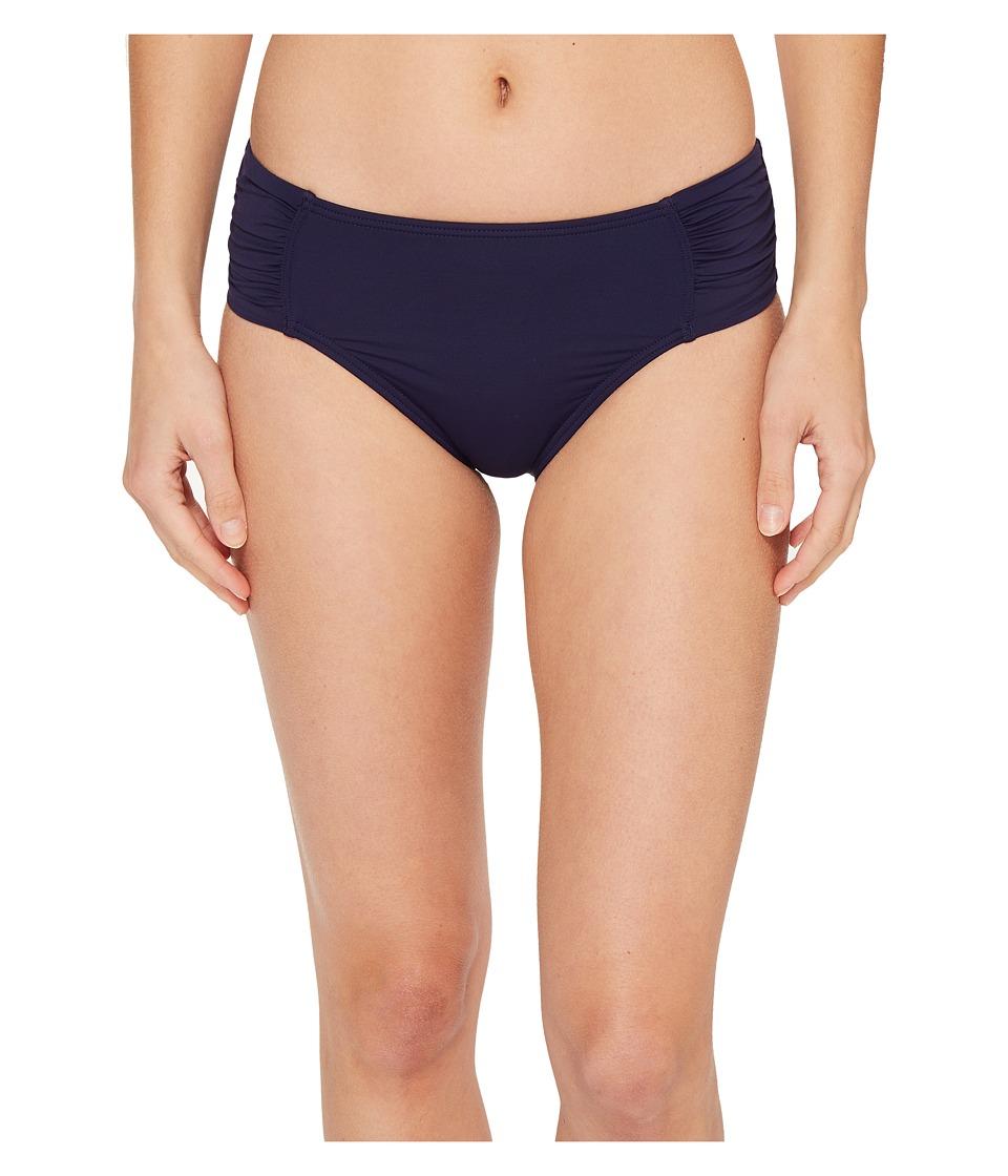 Tommy Bahama Pearl High-Waist Side-Shirred Bikini Bottom (Mare Navy)