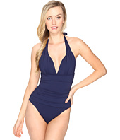 Tommy Bahama - Pearl Pleated Halter One-Piece