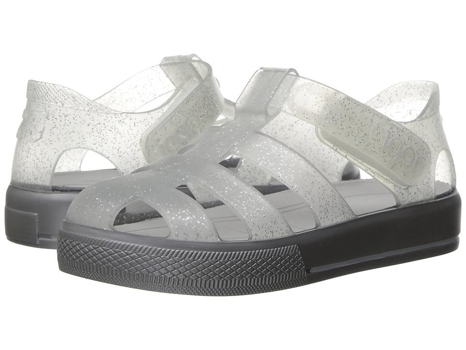 Igor Star (Infant/Toddler/Little Kid/Big Kid) (Silver Glitter/Grey) Girl's Shoes
