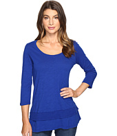 Mod-o-doc - Slub Jersey 3/4 Sleeve Tunic with Double Layer Hem
