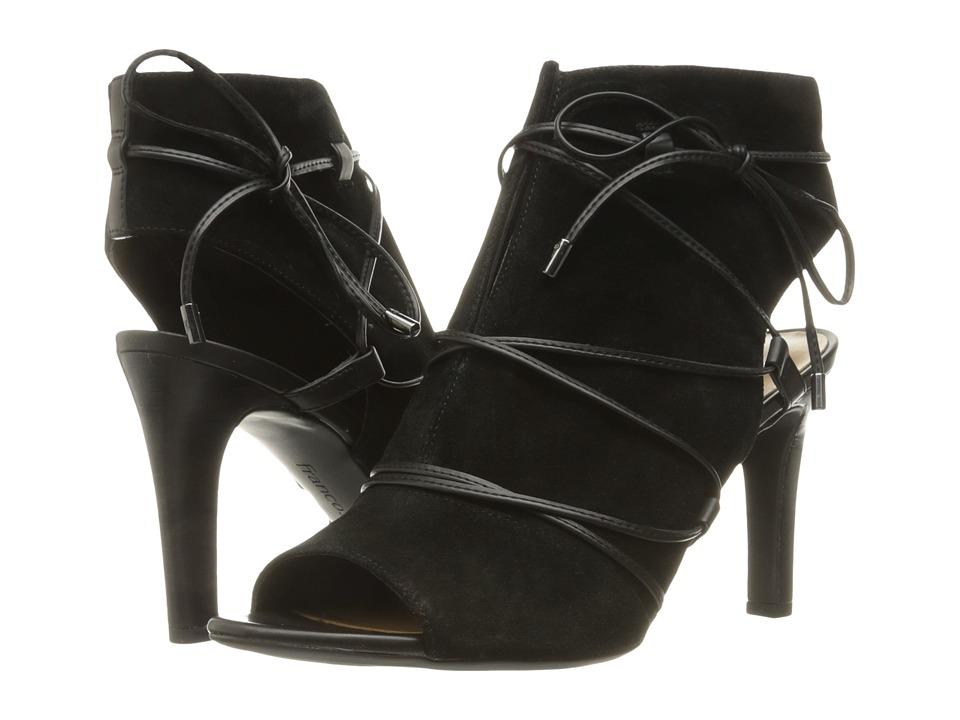 Franco Sarto Quinera (Black Suede) High Heels