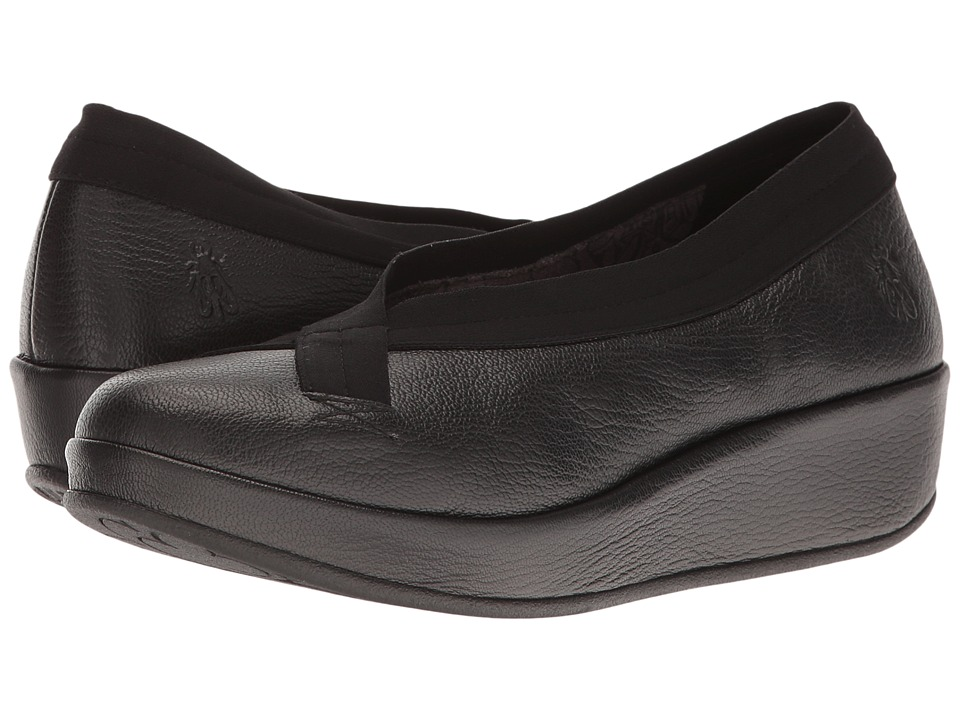 Fly London Bobi (Black Mousse) Women's Shoes