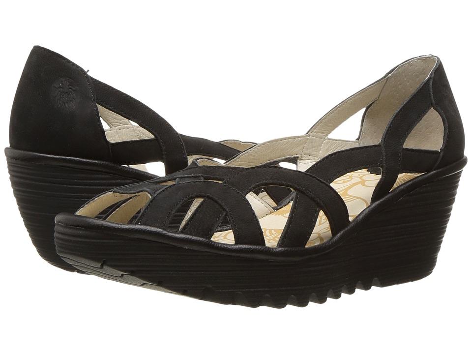 Fly London Yadi718Fly (Black Cupido/Mousse) Women's Shoes