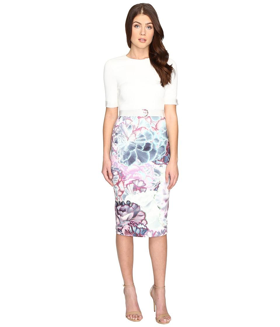 Ted Baker Stephie Illuminated Bloom Contrast Dress (Mid Purple) Women