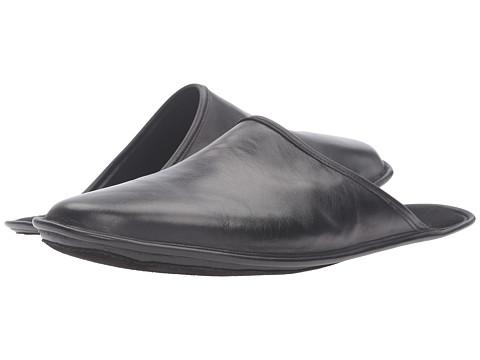 a. testoni Leather Cashmere Lined Slipper