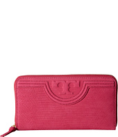Tory Burch - Fleming Snake Zip Continental Wallet