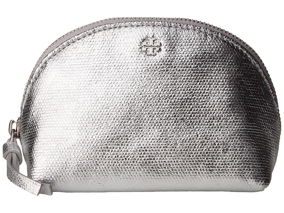 Tory Burch Metallic Mini Cosmetic (Silver Fabric Standard) Cosmetic Case