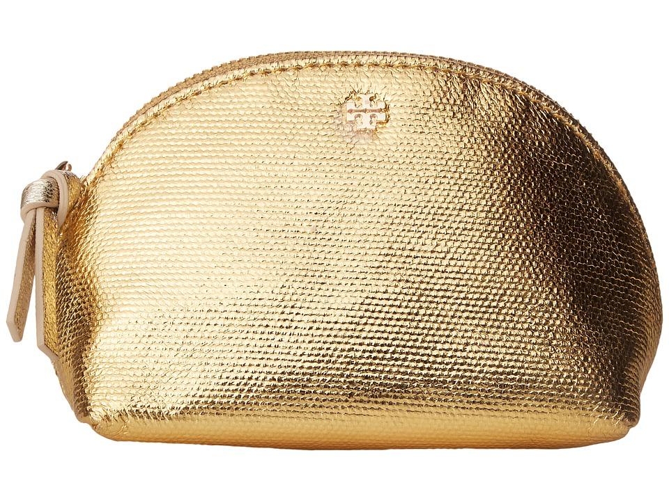 Tory Burch Metallic Mini Cosmetic (Gold) Cosmetic Case