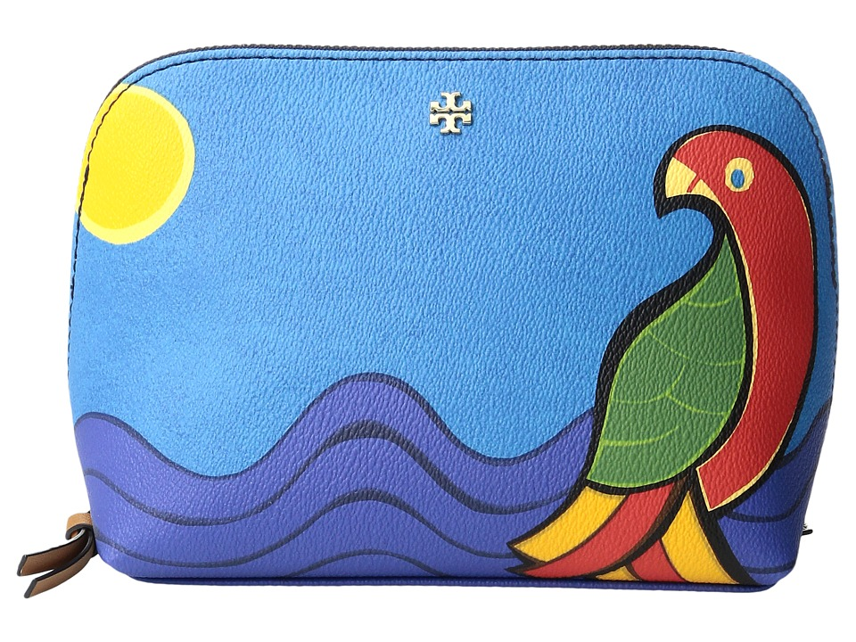 Tory Burch Kerrington Parrot Cosmetic Case (Multi) Cosmetic Case