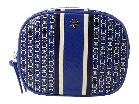 Tory Burch Gemini Link Cosmetic Case - Jewel Blue Gemini Link Stripe