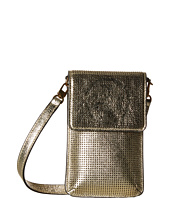 Tory Burch - Logo Perforated Metallic Phone Crossbody