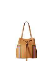 Tory Burch - Block-T Stripe Drawstring Tote
