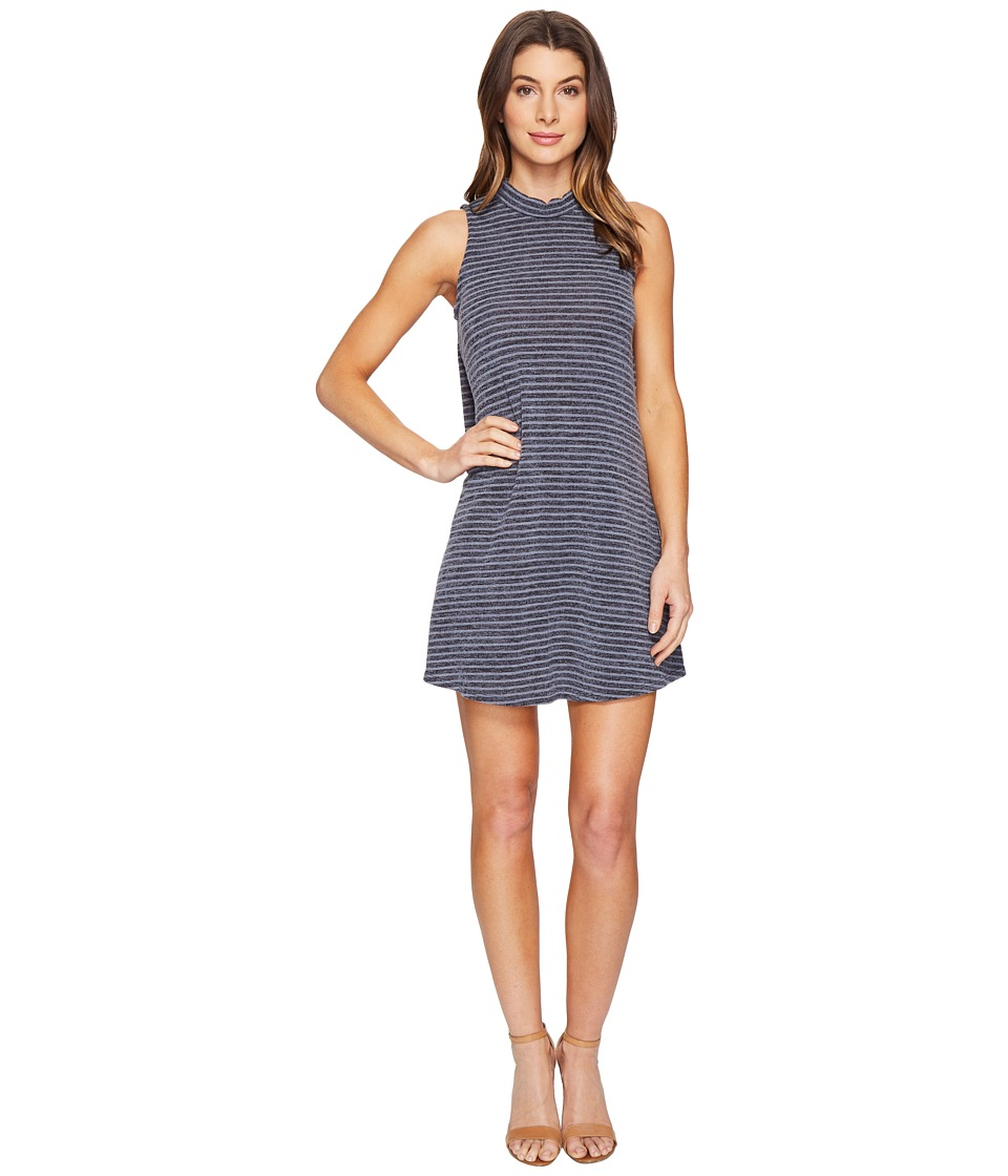 Culture Phit Caia Sleeveless Mock Neck Dress (Charcoal) Women
